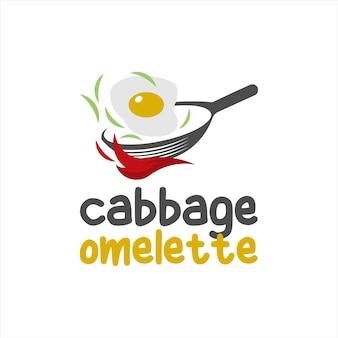 Омлет логотип яйца простой современный весело вектор