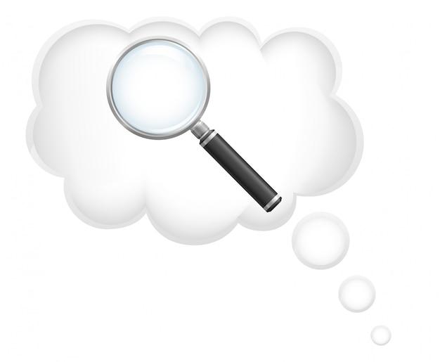 Сompt поиск идей векторная иллюстрация