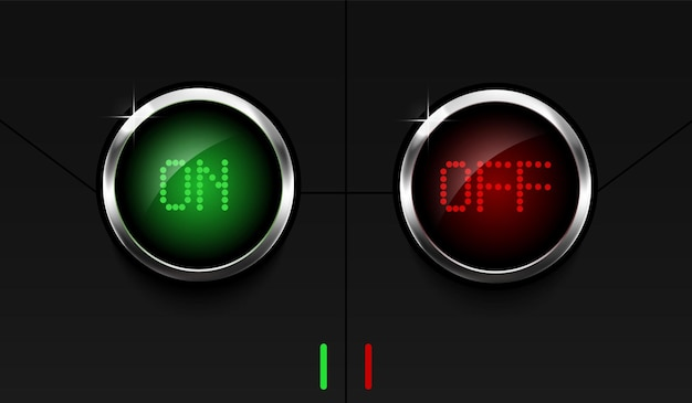 켜기 및 끄기 푸시 버튼