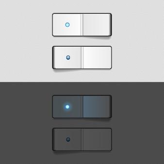 オンとオフのスイッチボタン