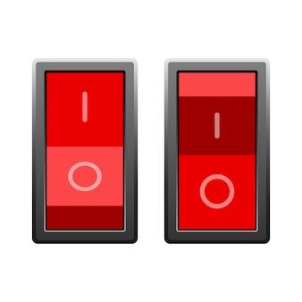 分離されたオンとオフのスイッチ