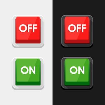オン-オフスイッチの電源ボタン