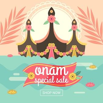 Banner onam per le vendite