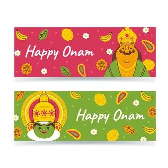 Onam banners set
