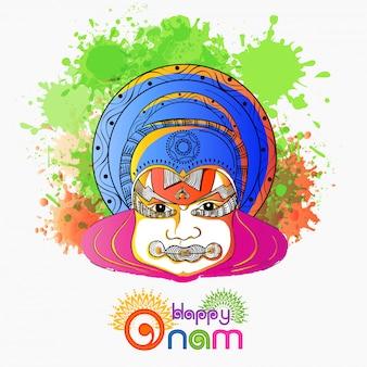 Onam festival celebration background.