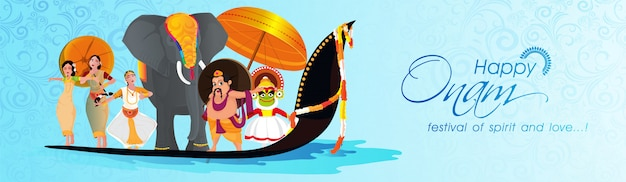 Onam festival celebration background.