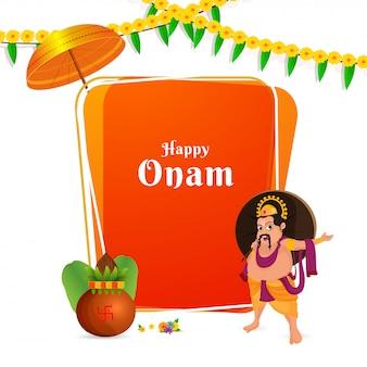Onam festival celebration concept.