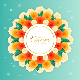 Onam floral decoration