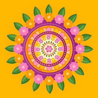 Onam flower decoration