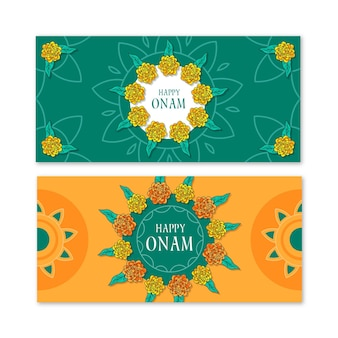 Onam horizontal banners collection