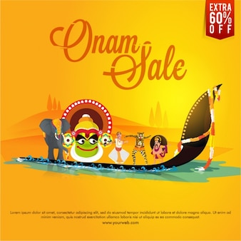 Onam sale background