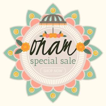 Onam sales banner
