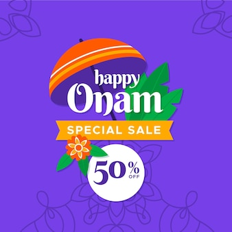 Onam sales squared banner