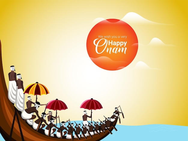 Onam south indian festival greeting card
