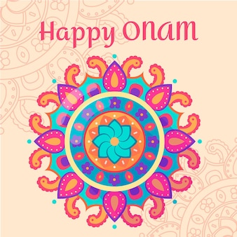 Onam traditional floral decoration