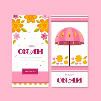 Onam vertical banners
