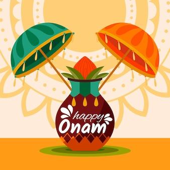 Onam with decoration