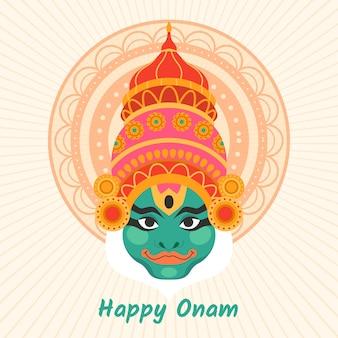Onam with deity