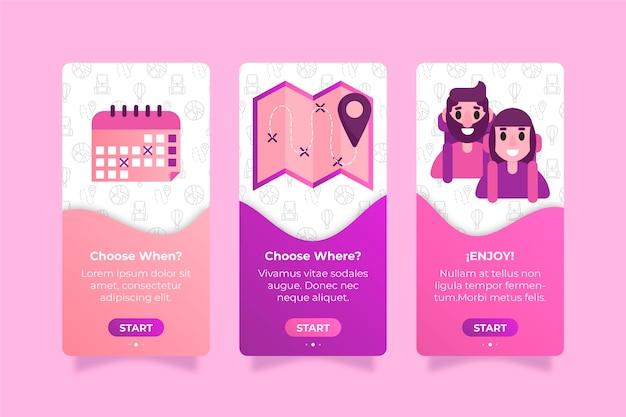 旅行デザイン向けのオンボーディングアプリ