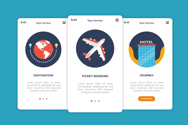 Onboarding app for traveling