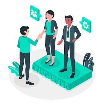 Onboarding concept illustration