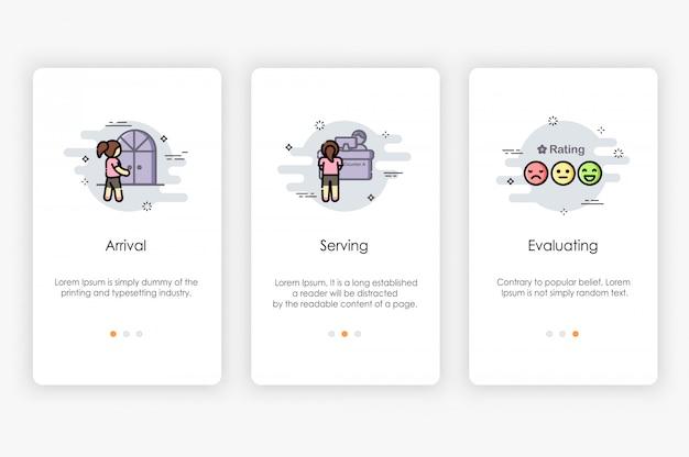Разработка бортовых экранов с использованием концепции сервиса. современная и упрощенная иллюстрация