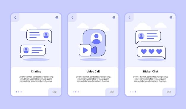 모바일 앱 배너 용 온 보딩 템플릿