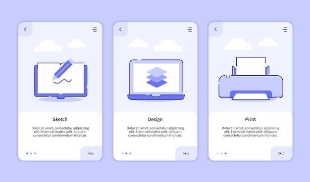 Онбординг шаблон для баннера мобильных приложений