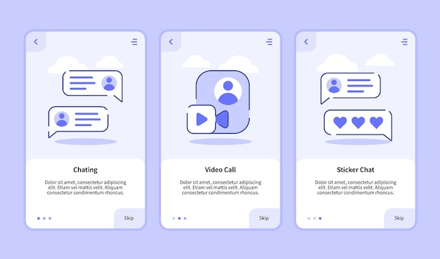 Onboarding template for mobile apps banner