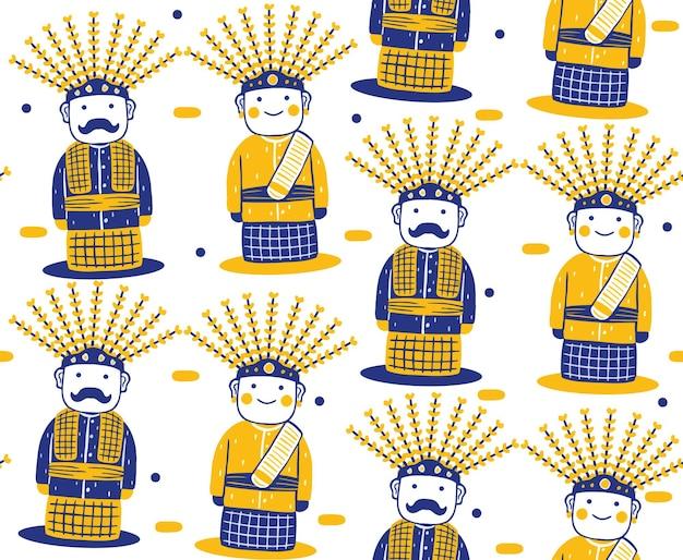 평면 디자인 스타일에 ondelondel 원활한 패턴