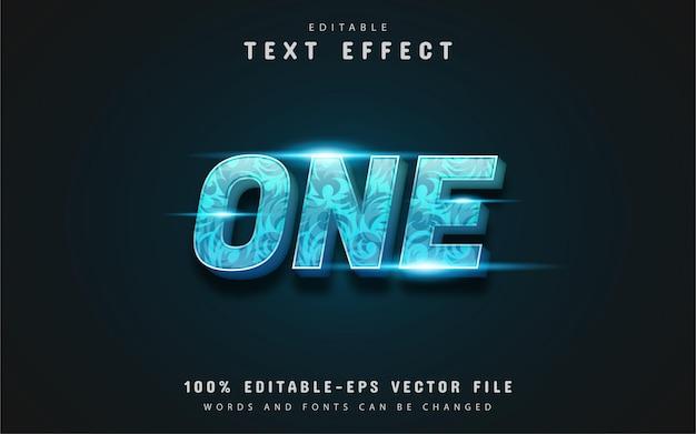 Один трехмерный синий градиентный текстовый эффект