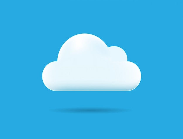 One cloud illustration isolated