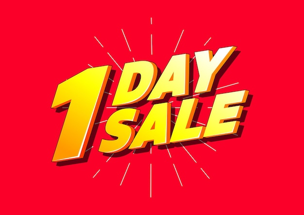 One day sale. special offer price banner.