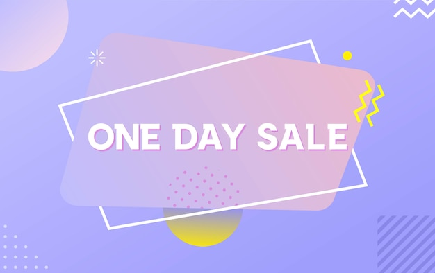 One day sale with abstract liquid backrgound