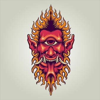 One eyed devil illustration