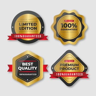 One hundred percent guarantee badge selection