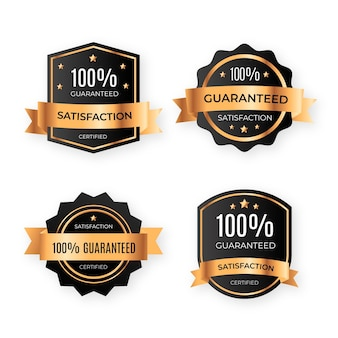 One hundred percent guarantee badges pack