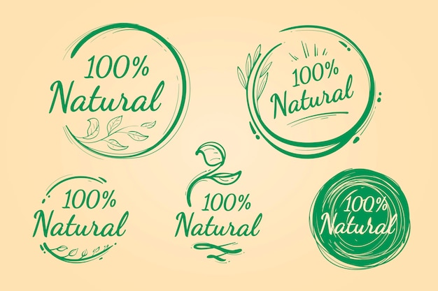 One hundred percent natural badge pack