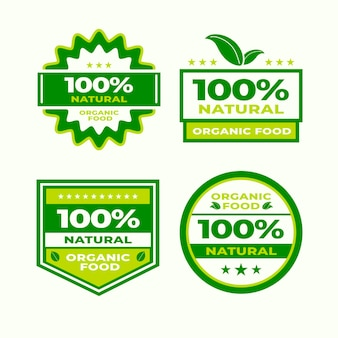One hundred percent natural badges