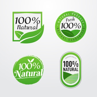 One hundred percent natural labels