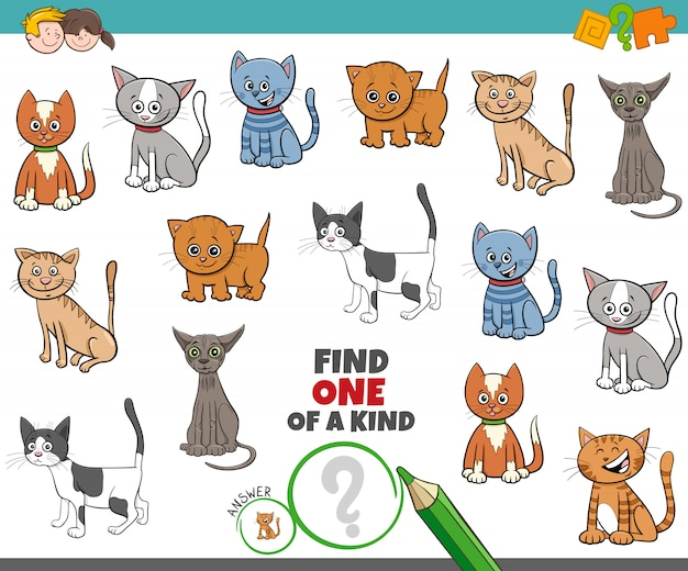 One of a kind game for children with cats