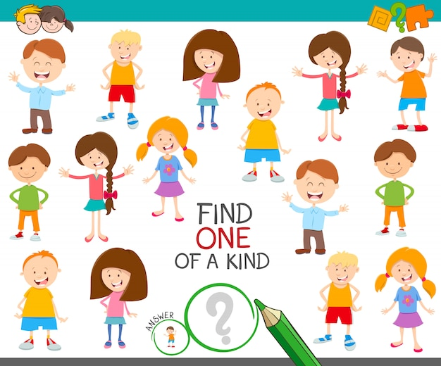 One of a kind game with children