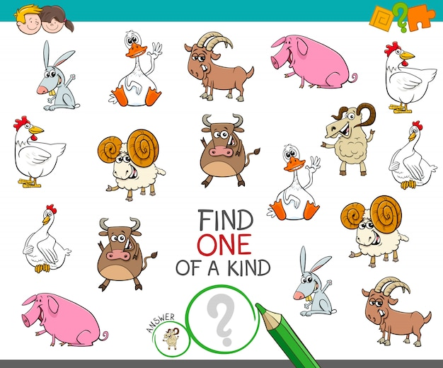 One of a kind game with funny farm animal characters