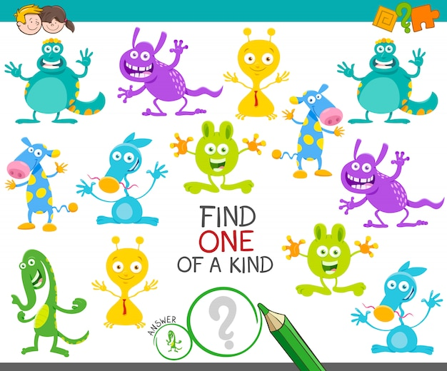 One of a kind picture educational game for kids