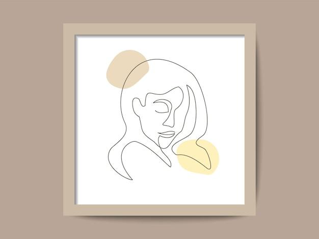 Одной линии искусства рисунок лица женщины