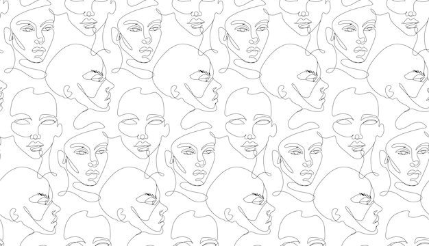 One line seamless pattern