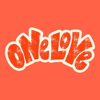 One love handdrawn lettering typography quote about love for valentines day and wedding