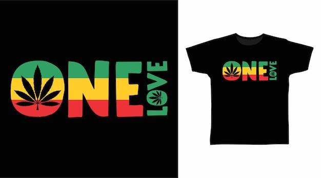 하나의 사랑 타이포그래피 티셔츠 디자인