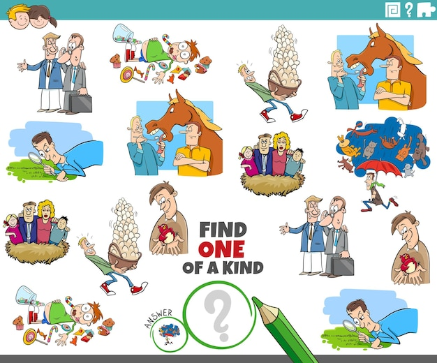 Уникальное задание для детей с мультяшными пословицами