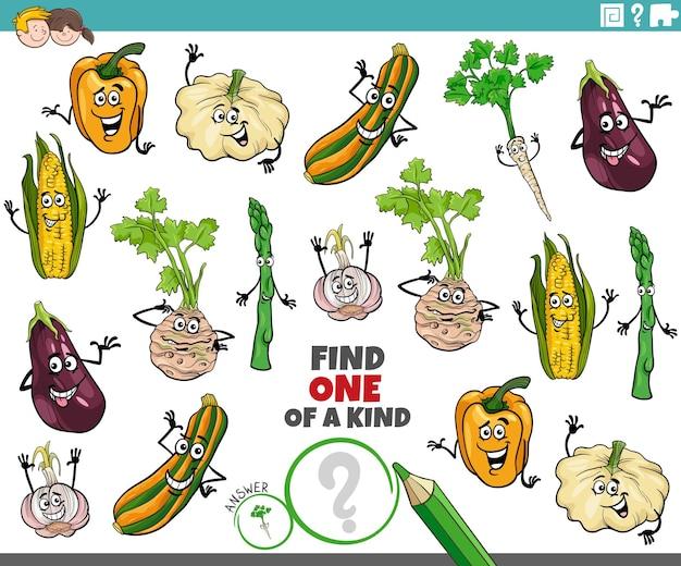 漫画の野菜を持つ子供のためのユニークなタスクの1つ